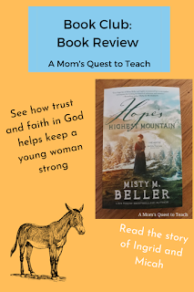 image of donkey and book cover of Hope's Highest Mountain