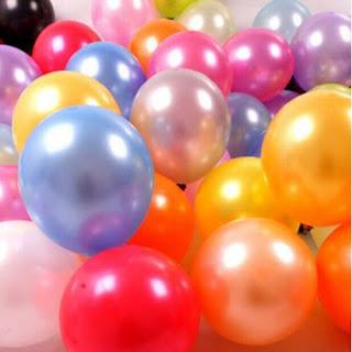 balon berbagai warna