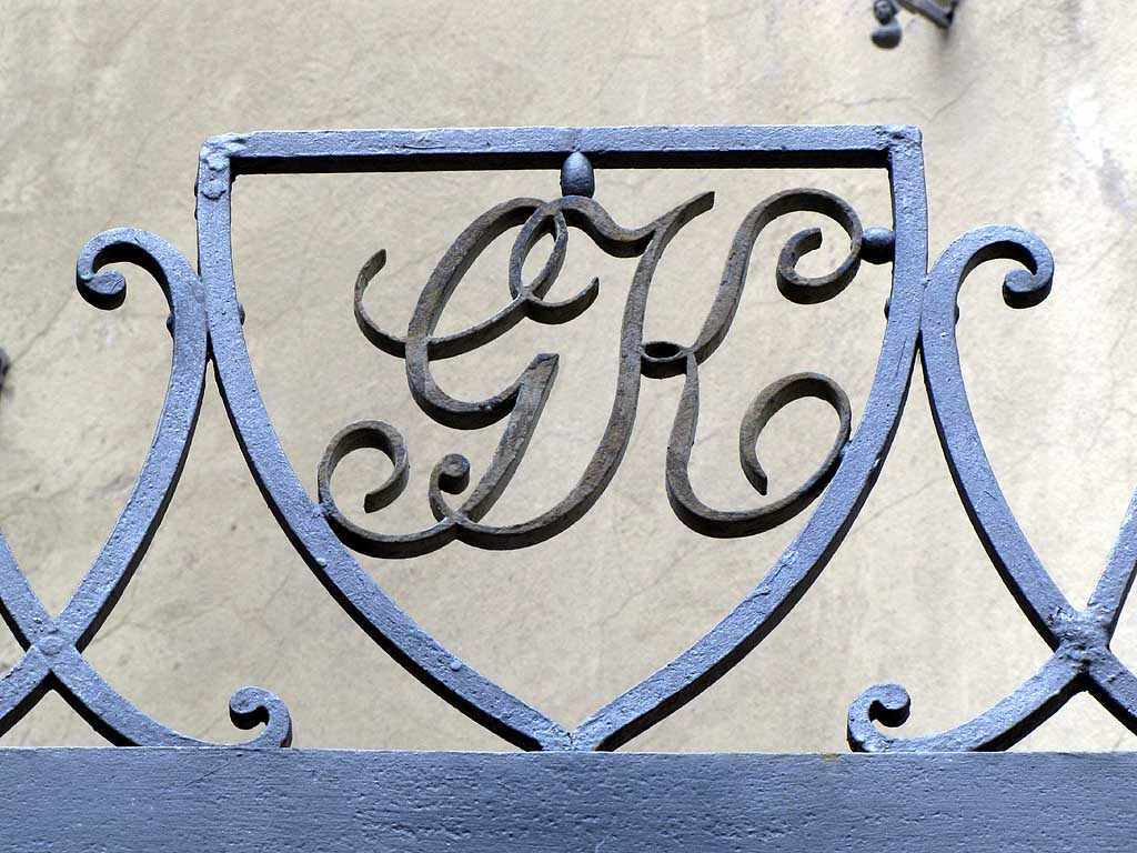 Livorno daily photo wrought iron initials