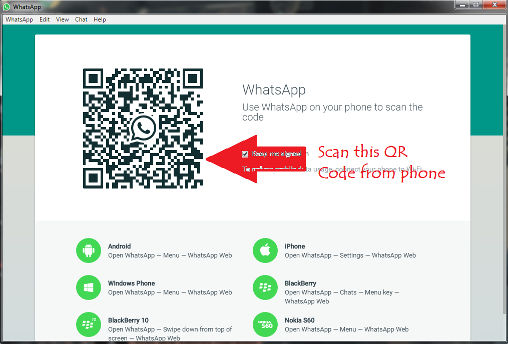 How to get whatsapp qr code on mobile