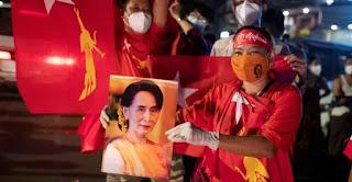 মিয়ানমারে নির্বাচন : বিজয় দাবি করছে সু চির এনএলডি