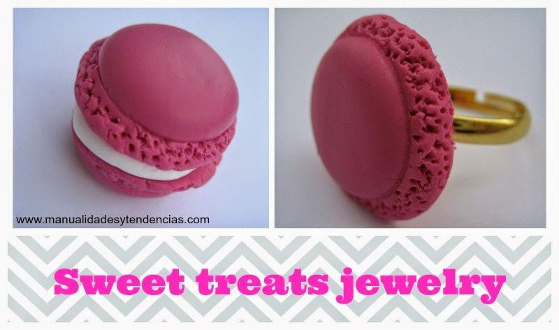 Sweet treats jewelery macaron / Macaron de pasta fimo / Macaron en pâte fimo