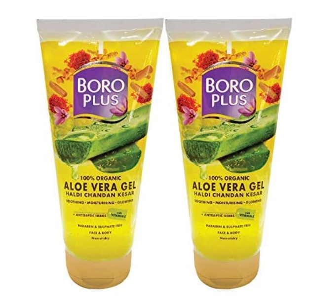 BoroPlus Aloe Gel Haldi Chandan Kesar, 150 ml (Pack of 2)