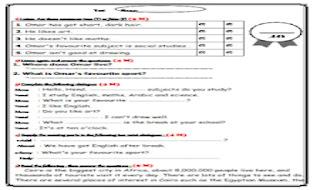 اختبار  لغة انجليزية على اول 3 وحدات للصف الاول الاعدادى - مستر اسامه فتحى - امتحان انجليزى اولى اعدادى مستر اسامة فتحى من موقع درس انجليزى