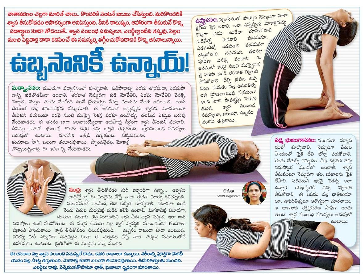 Yoga Asanas Names In Telugu