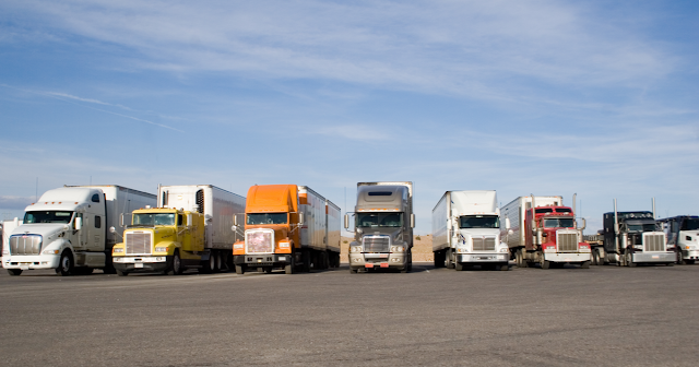 Parked trucks using TruckLogics for time management
