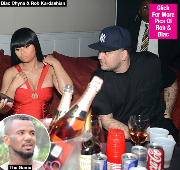 Rob Kardashian & Blac Chyna Battling Over Her Hookup With The Game — Report