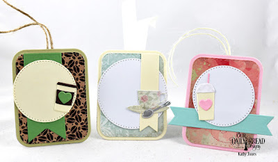 Our Daily Bread Designs Custom Dies: Mini Cups & Mugs, Double Stitched Rounded Rectangles, Rounded Rectangles, Pierced Circles, Pennant Flags, Paper Collections: Latte Love, Beautiful Blooms, Shabby Rose