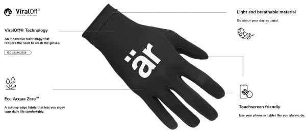 Touchscreen friendly reusable hand gloves: Self-cleaning technology
