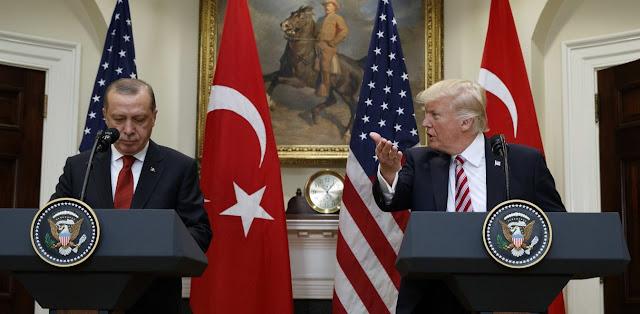 Αλληλοσυγκρουόμενα συμφέροντα Τουρκίας και ΗΠΑ: Διχασμένοι Τραμπ - Ερντογάν
