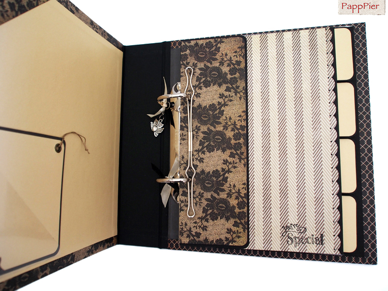 papppier edles ringbuch din a5. Black Bedroom Furniture Sets. Home Design Ideas