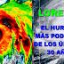 El huracán Lorenzo ya es categoría 4 y es el más poderoso de los últimos 30 años en el Atlántico tropical.