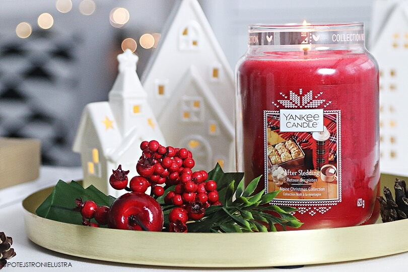 yankee candle after sledding recenzja na blogu