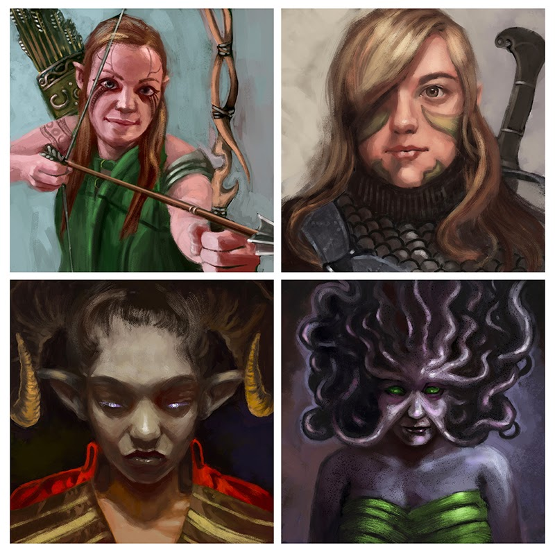 Digital Painting -- Final: Fantasy Portraits