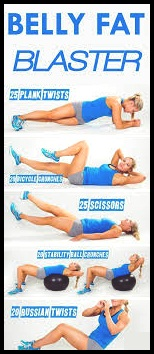 Exercises that get rid of hip and stomach fa