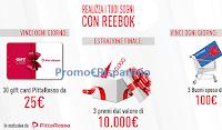 Logo Concorso ''Vinci con Reebok'' : 1.485 buoni spesa Pittarosso da 25€, da 100€ e premi da 10.000€