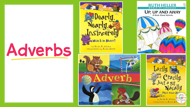 Here is a list of picture books to teach adverbs. Use these to introduce adverbs and engage your upper elementary students.