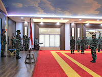 Pangdam I/Bukit Barisan Menerima Laporan Korps Kenaikan Pangkat18 Perwira Menengah