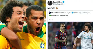 Dani Alves names Marcelo better player than him, Marcelo declares mutual respect
