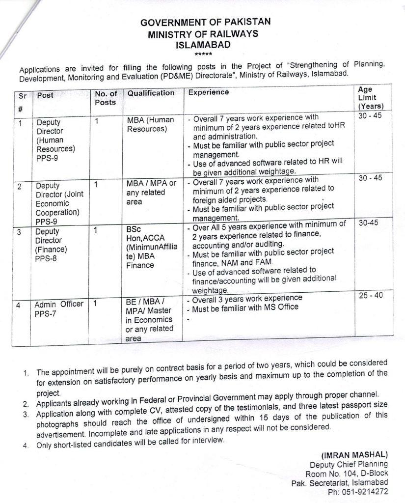 Pakistan Railways job 2020