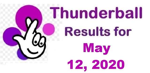 Thunderball Results for Tuesday, May 12, 2020