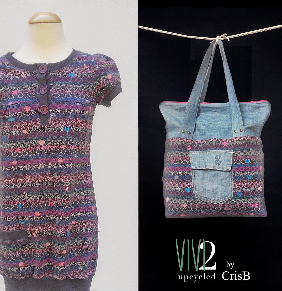 ropa reciclada, bolsos reciclados, upcycling, bolsos