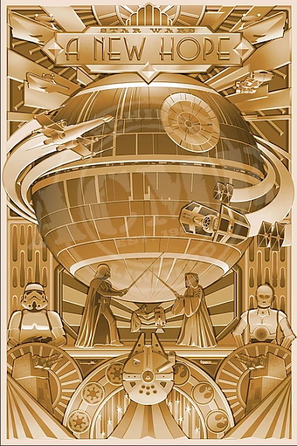 Star Wars Holiday Posters A New Hope
