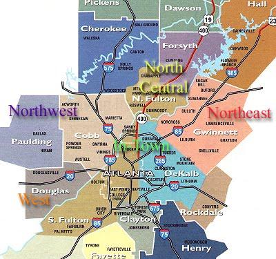 Maps Of Dallas Atlanta Map