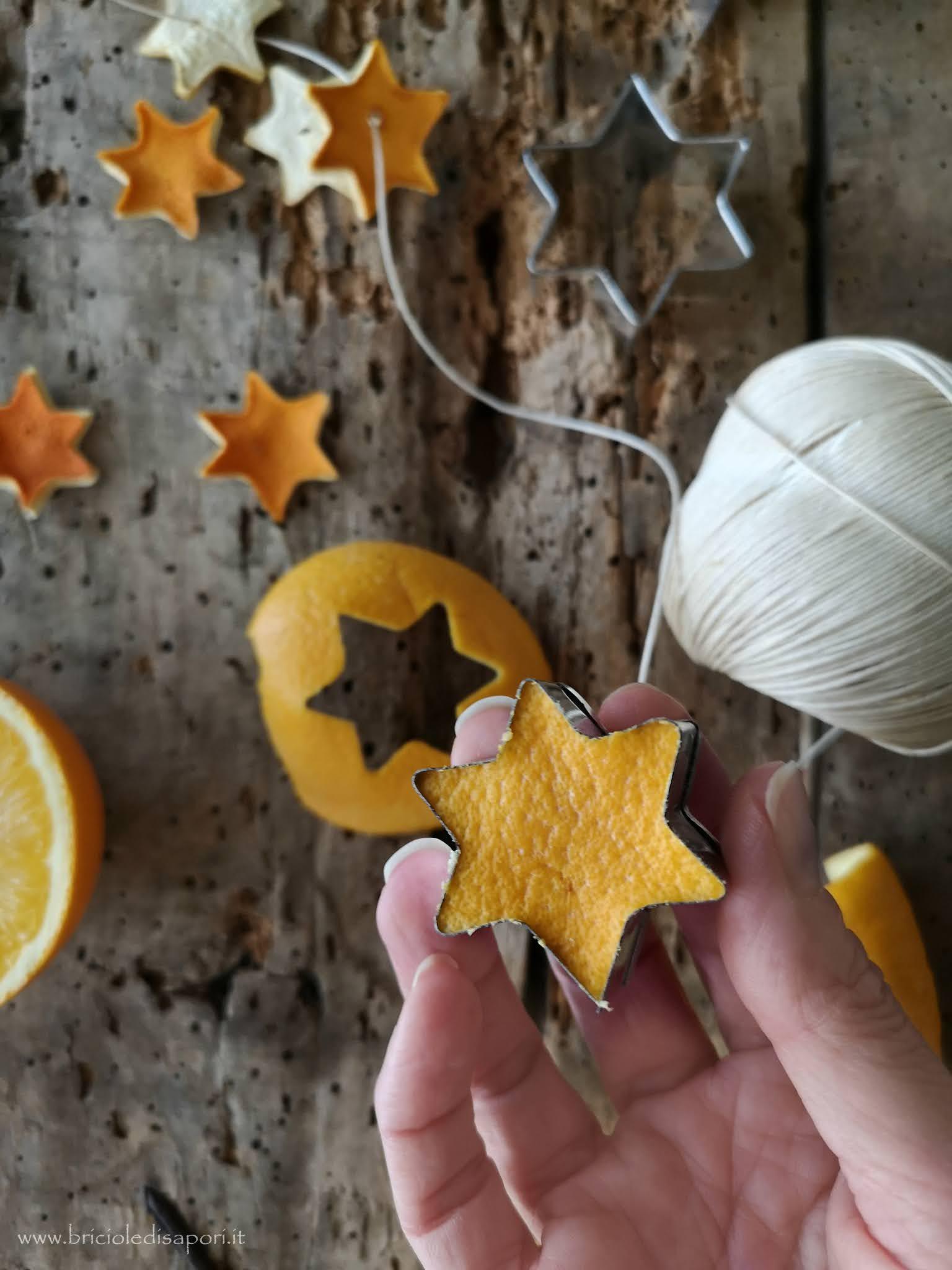 come fare le stelline con scorza di arancia