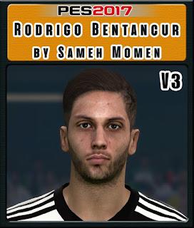 PES 2017 Faces Rodrigo Bentancur by Sameh Momen