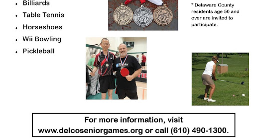 2016 Delco Senior Games - Sign up to run, play and have fun!