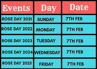 Rose Day Calendar