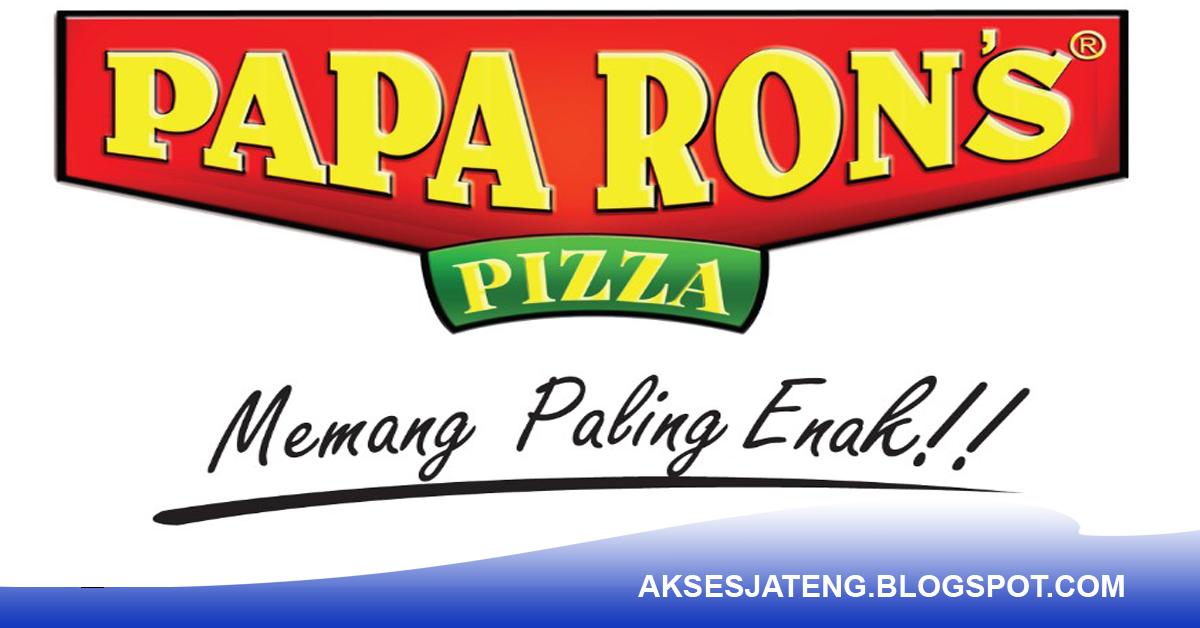 Lowongan Crew Papa Ron's Pizza Semarang