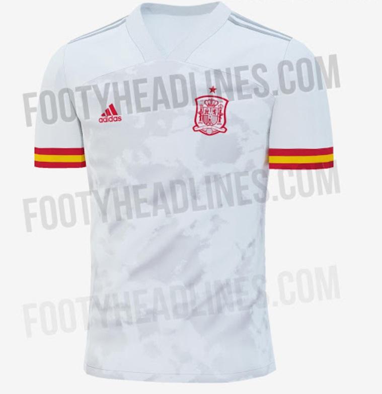 Spain Away kit for Euro 2020