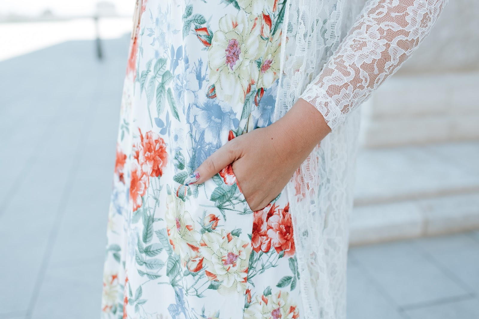 Lace Details, Summer Floral, The Red Closet Shop