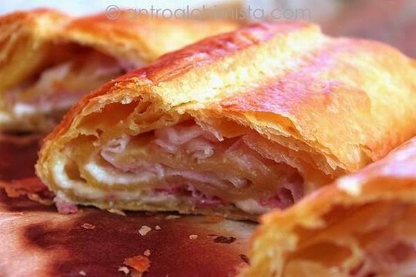 Strudel Salato con Montasio e Pancetta