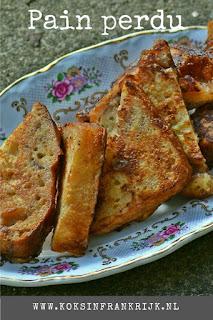Wentelteefjes of pain perdu van restjes suikerbrood.
