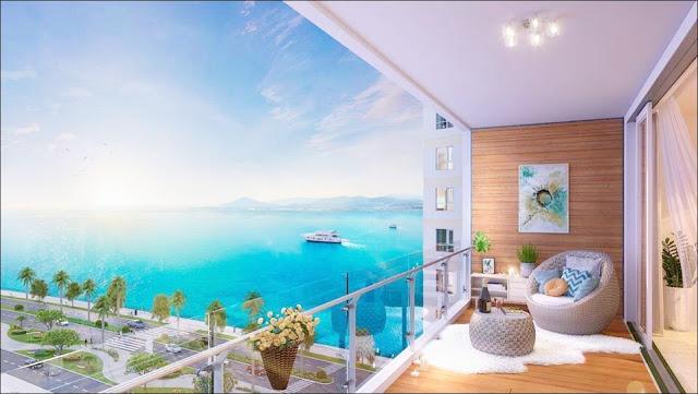 View biển từ ban công căn hộ view biển