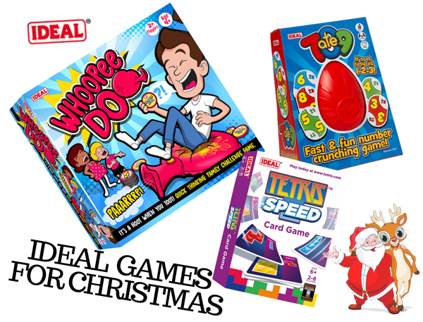 we, as a family, have been reviewing IDEAL games, just in time for Christmas