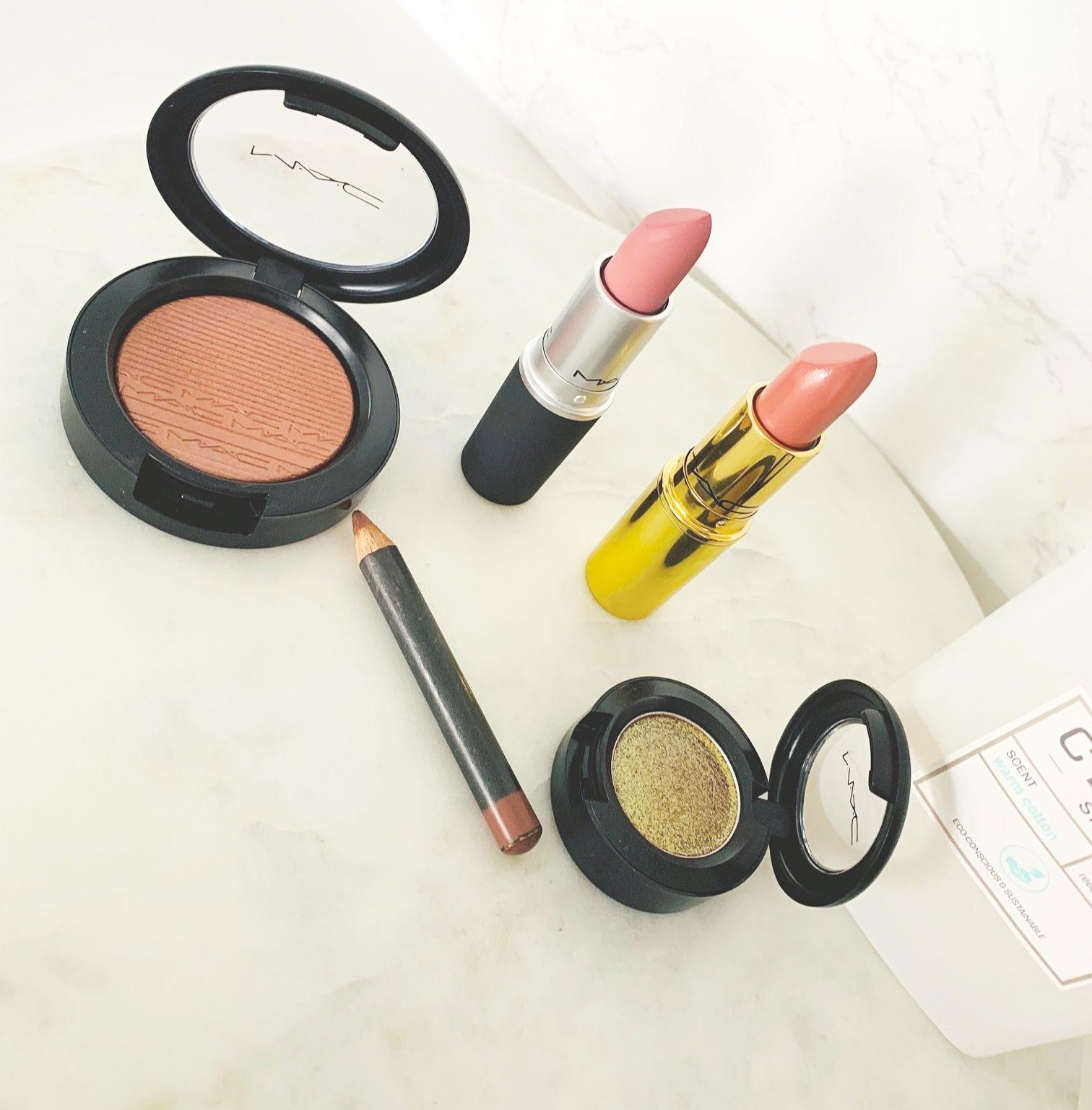MAC x Nic Chapman, MAC Spice, MAC, MAC I Like To Watch Eyeshadow, Hushed Tone Blush. Powder Kiss Lipstick - Reverence