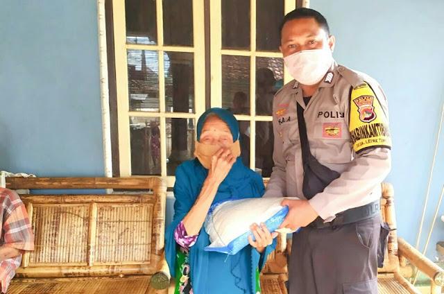Polres Lotim Kembali Salurkan Sembako Mabes Polri di 8 Kecamatan