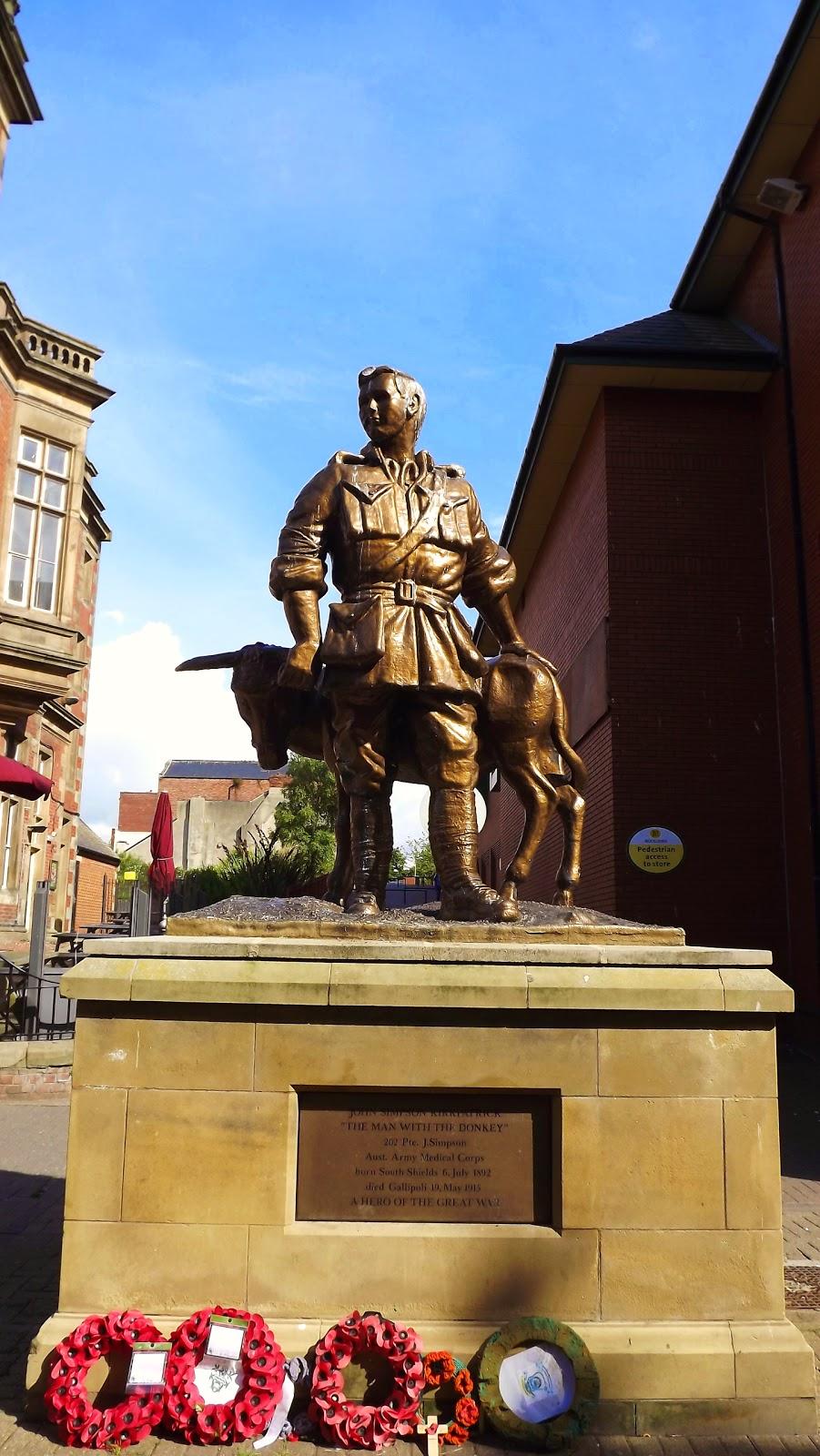 John Simpson Kirkpatrick, Photos South Shields, Gallipoli First World War South Shields, Newcastle War Memorial the Response, northumbrian images blogspot, Photos Photos South Shields, First World War, Tyneside,North East, England,Photos,Photographs