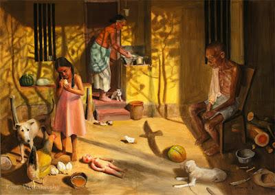 Damyanthikkadhakal-Story-painting-HuesnShades