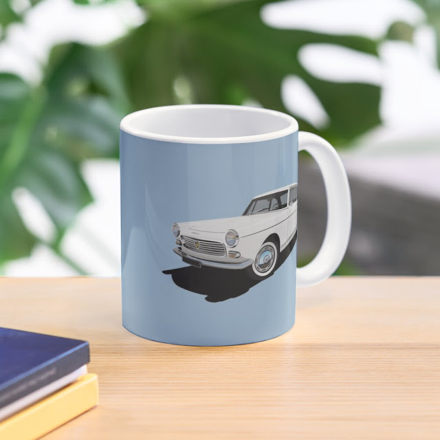 Peugeot 404 Coupé two image coffee mugs