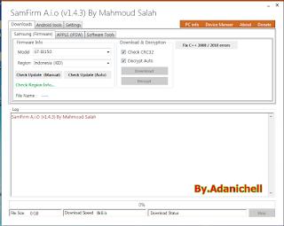Samfirm a.i.o Tool v1.4.2 Remove Frp