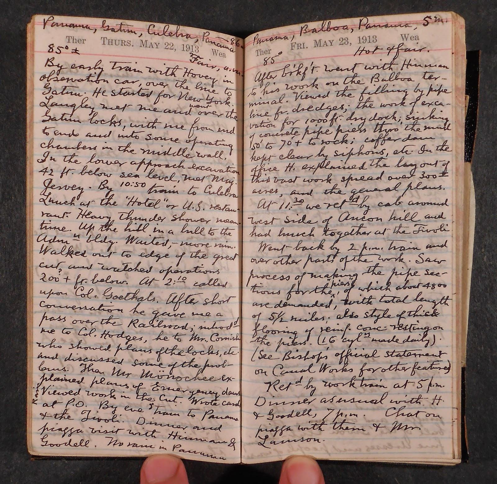 A small book of handwritten text.