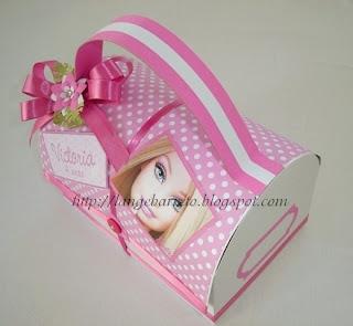 Lancheira tema Barbie.