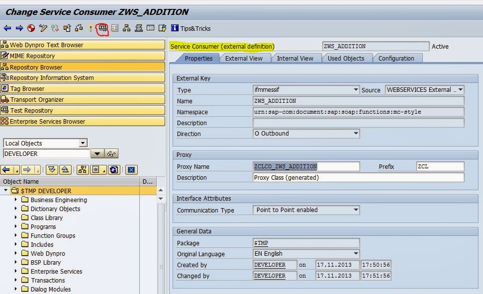 TECHSAP : Web Service creation and consuming it In SAP ABAP