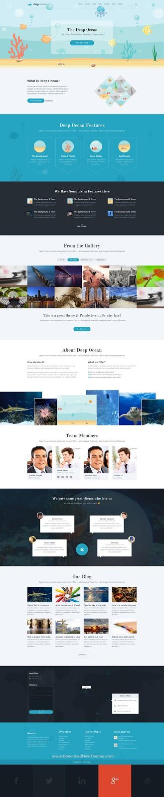 Single Page PSD Template