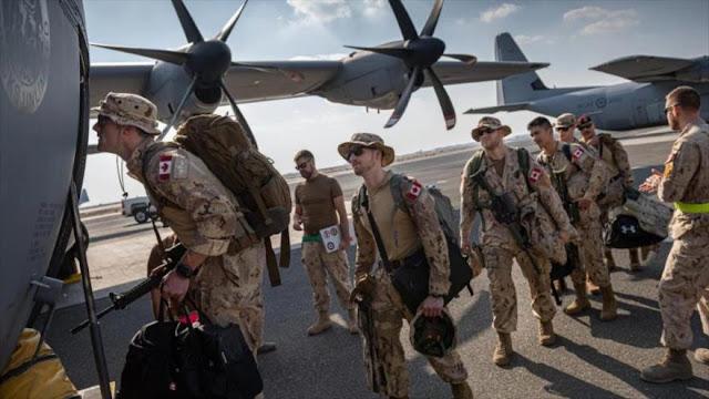 Canadá reduce el número de sus tropas en Asia Occidental